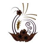 Disegno floreale del fiore Immagini Stock Libere da Diritti