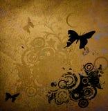 Disegno floreale del grunge Fotografie Stock Libere da Diritti