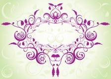 Disegno floreale del reticolo Fotografie Stock Libere da Diritti