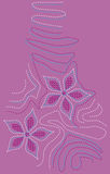 Disegno floreale del ricamo royalty illustrazione gratis