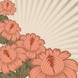 Disegno floreale dell'annata. illustrazione di stock