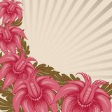 Disegno floreale dell'annata. illustrazione vettoriale