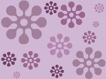 Disegno floreale dell'indaco Immagini Stock