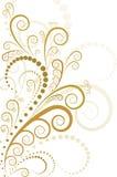 Disegno floreale dell'oro Immagini Stock Libere da Diritti