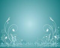 Disegno floreale di inverno Fotografie Stock