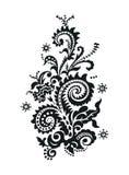 Disegno floreale di Paisley Immagini Stock