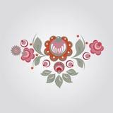 Disegno floreale di stile russo Fotografie Stock