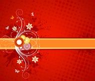 Disegno floreale di vettore Fotografie Stock