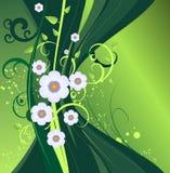 Disegno floreale di vettore verde scuro Fotografia Stock Libera da Diritti