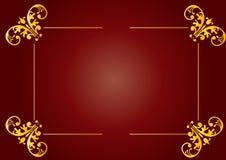 Disegno floreale marrone rossiccio Immagine Stock