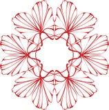 Disegno floreale rosso Immagine Stock