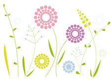 Disegno floreale semplice Fotografia Stock Libera da Diritti