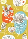 Disegno floreale senza giunte della priorità bassa Fotografie Stock Libere da Diritti