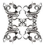 Disegno floreale simmetrico Fotografia Stock Libera da Diritti