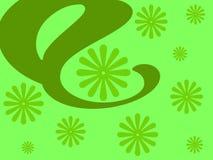 Disegno floreale verde Fotografia Stock