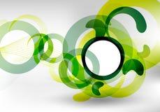 Disegno futuristico verde Immagini Stock
