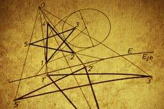 Disegno geometrico fotografia stock