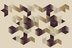 Disegno geometrico della pagina di gradiente Immagine Stock