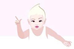 Disegno grafico astratto del bambino in maglia Fotografie Stock Libere da Diritti