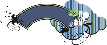 Disegno grafico blu della bandiera Immagini Stock Libere da Diritti