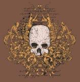 Disegno grafico del cranio Fotografia Stock Libera da Diritti