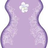 Disegno grafico del fiore dell'orchidea Illustrazione Vettoriale