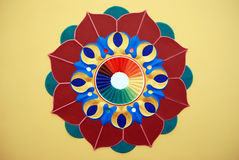 Disegno grafico del fiore di loto Immagine Stock