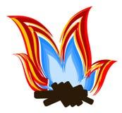 Disegno grafico di vettore della fiamma Fotografie Stock Libere da Diritti