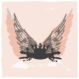 Disegno Grungy dell'araldica Fotografia Stock Libera da Diritti
