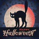 Disegno grungy di Halloween dell'annata (vettore) Immagine Stock
