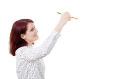 Disegno immaginario della donna Immagini Stock