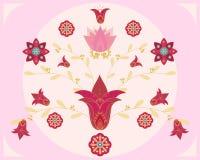 Disegno indiano del fiore Royalty Illustrazione gratis