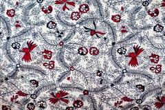 Disegno indiano tradizionale del tessuto Immagine Stock