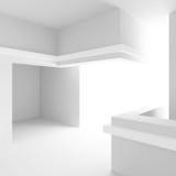Disegno interno bianco Stanza vuota con il portello Fotografia Stock Libera da Diritti