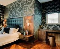 Disegno interno - camera da letto Fotografia Stock Libera da Diritti