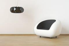 Disegno interno con mobilia moderna Immagine Stock