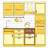 Disegno interno della cucina Immagini Stock