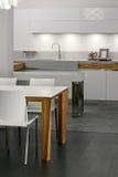 Disegno interno della cucina. Elegante e di lusso. Fotografia Stock