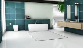 Disegno interno della stanza da bagno Fotografia Stock