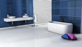 Disegno interno della stanza da bagno contemporanea Immagine Stock Libera da Diritti