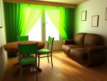 Disegno interno domestico moderno nello stile classico Fotografia Stock Libera da Diritti