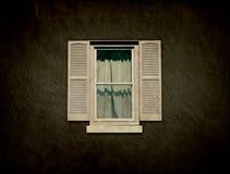 Disegno interno - finestra dell'annata Fotografia Stock Libera da Diritti