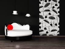 Disegno interno moderno con Fotografia Stock