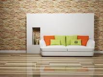 Disegno interno moderno del salone Immagine Stock