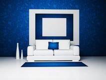 Disegno interno moderno del salone Fotografie Stock