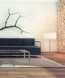 Disegno interno moderno del salone Fotografia Stock