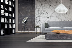 Disegno interno moderno del salone Immagini Stock
