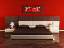 Disegno interno moderno della camera da letto Fotografia Stock