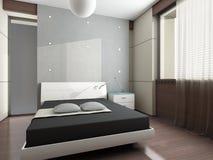 Disegno interno moderno (l'appartamento 3d del privat rende Immagini Stock