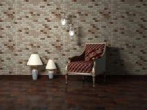 Disegno interno romantico di stanza moderna Fotografie Stock
